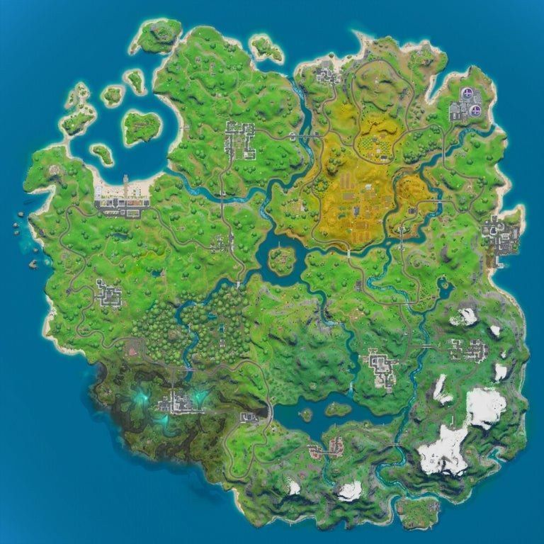 The Snow in the Battle Royale map is starting to clear.