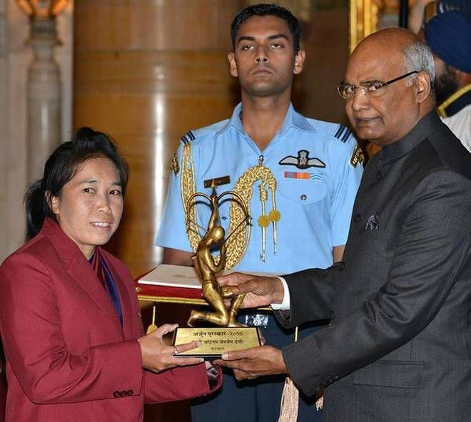 Bembem Devi was conferred with the Arjuna award in 2017 (Credits: The Hindu)