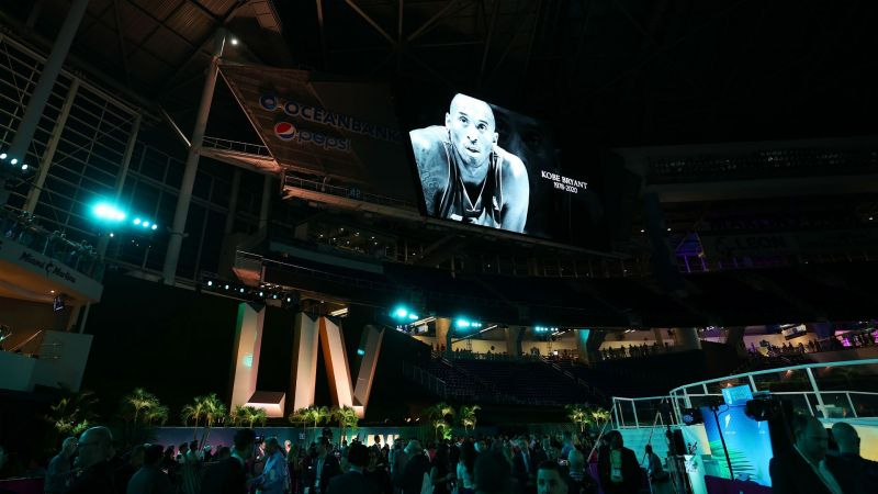 A Kobe Bryant tribute during Super Bowl Opening Night