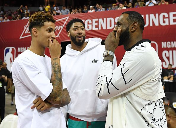Kuzma, AD and LeBron during the offseason after Davis
