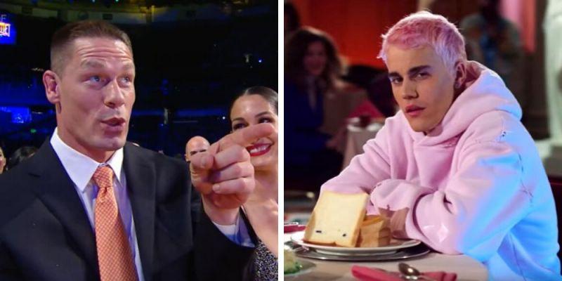John Cena and Justin Bieber