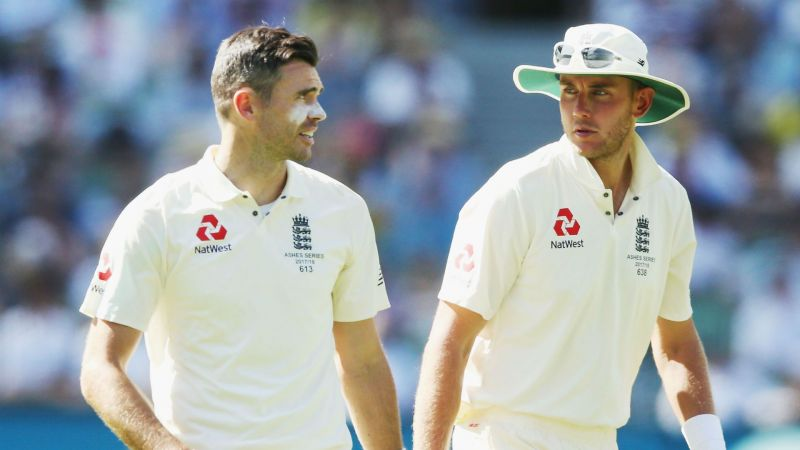 James Anderson and Stuart Broad, England