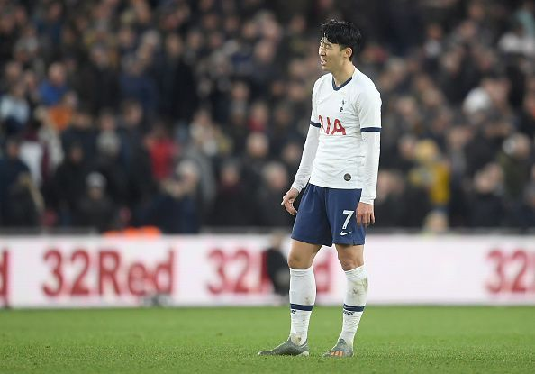 Son Heung-min playing against Middlesbrough