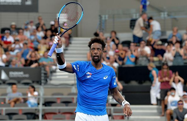 Gael Monfils won his singles match in the first round