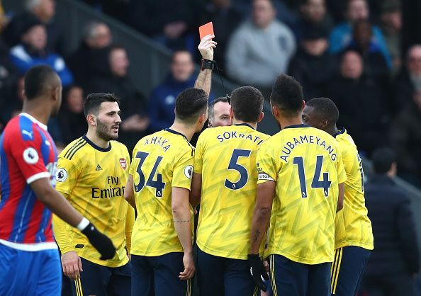 Pierre-Emerick Aubameyang remains suspended after his red card against Crystal Palace