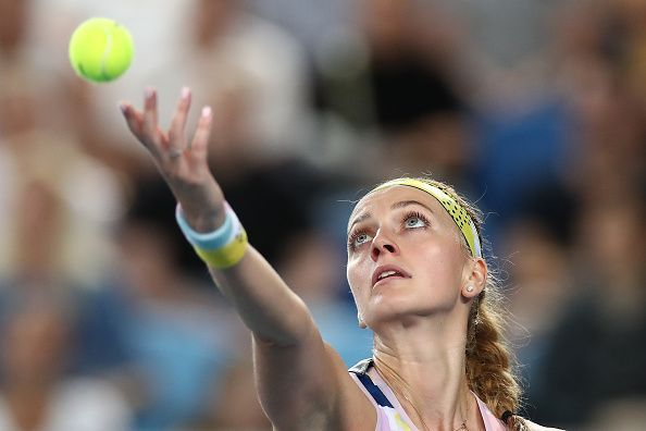 Petra Kvitova has had an up and down game on her serve this week.