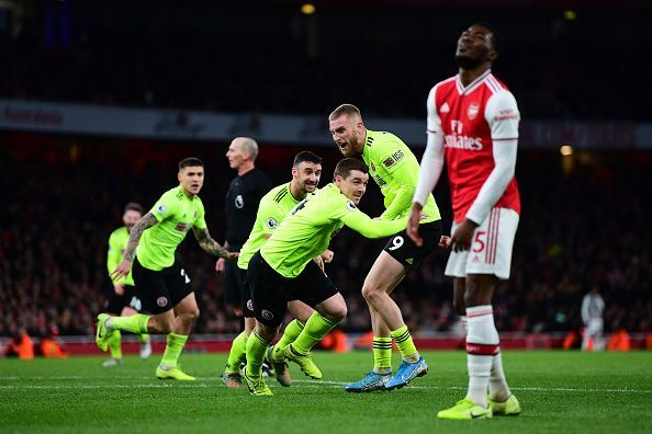 Arsenal were held to a 1-1 draw by Sheffield United