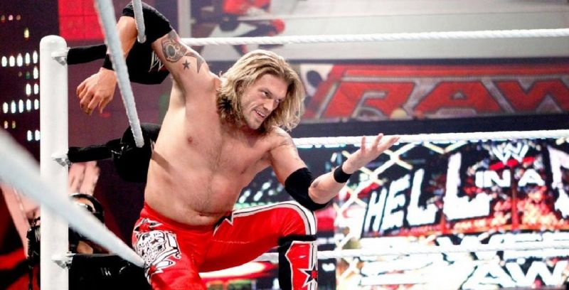 """Edge, telling the rumors of his impending return to """"come at me, bro!"""""""