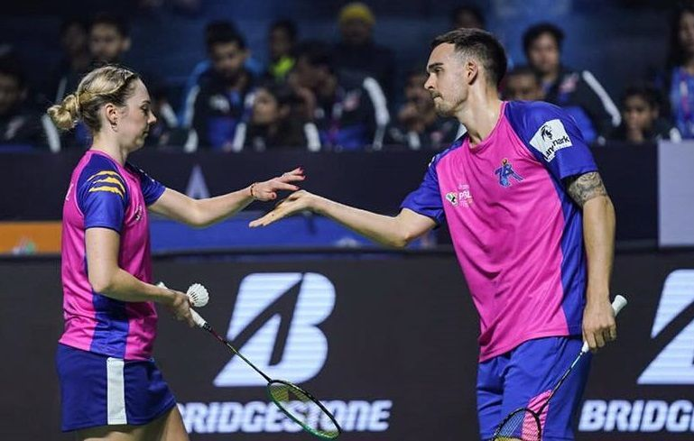 Chris and Gabby Adcock of Pune Aces (Image Credits - PBL)