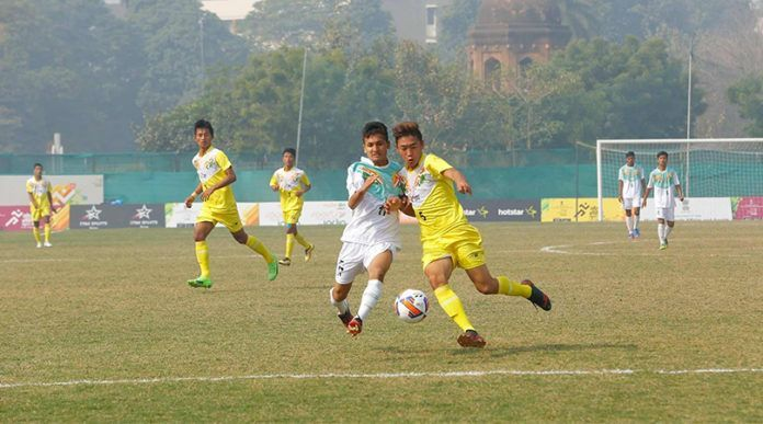 Football action continues on the third day of the competition at the Khelo India Youth Games 2020
