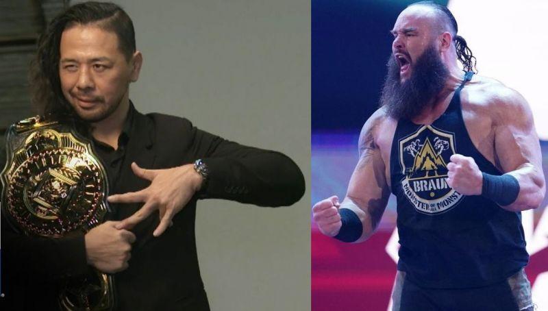 Shinsuke Nakamura and Braun Strowman