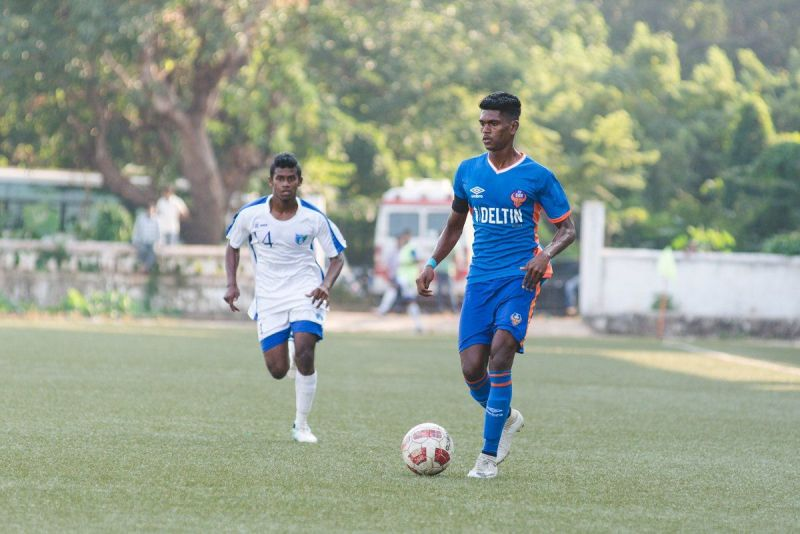 Liston Colaco (R) was signed by Hyderabad FC