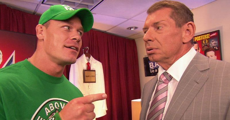 John Cena and Vince McMahon