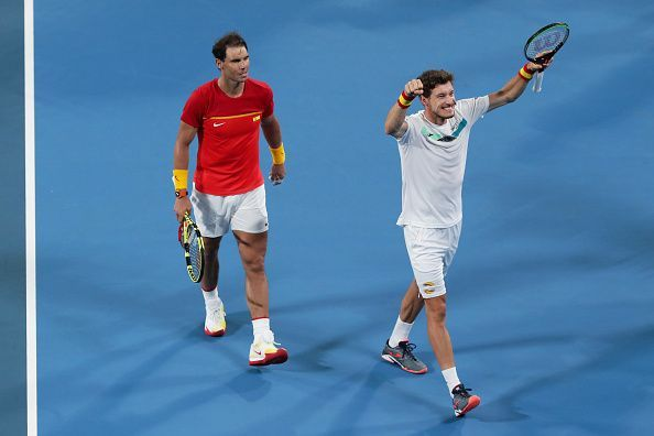 2020 ATP Cup - Nadal (L) and Carreno Busta