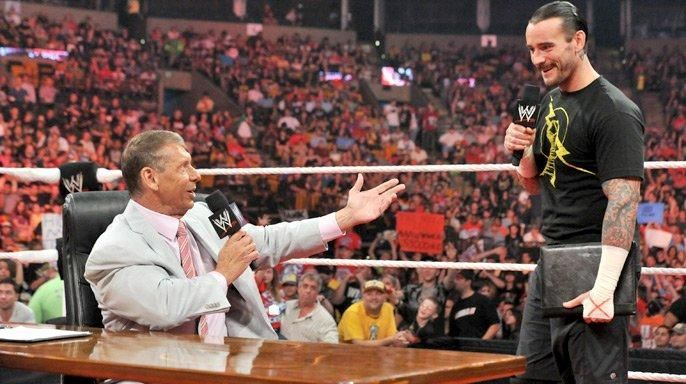 Vince McMahon and CM Punk