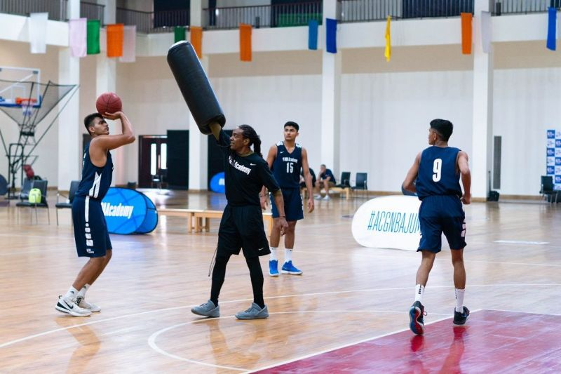 NBA India Academy players during a practice session