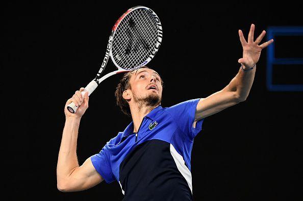 Daniil Medvedev has turned in good serving performances in the tournament so far.