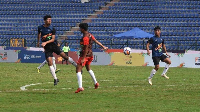 Three age categories had the finals in the football event at the Khelo India Youth Games 2020