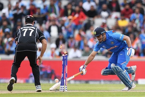 India v New Zealand was the last time Dhoni was seen in international cricket
