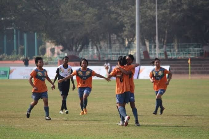 Football action carries on at the Khelo India Youth Games 2020 in Guwahati, Assam