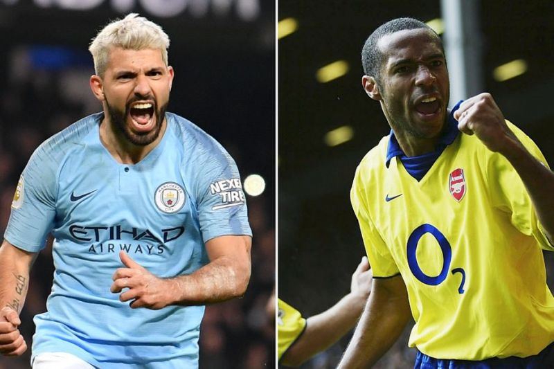 Sergio Aguero and Thierry Henry are the Premier League