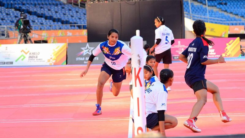 The Kho Kho action begins at the Khelo India Youth Games 2020 in Guwahati, Assam