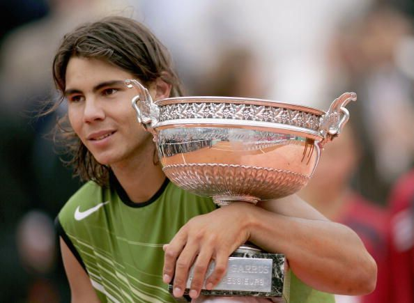 Rafael Nadal at the 2005 French Open