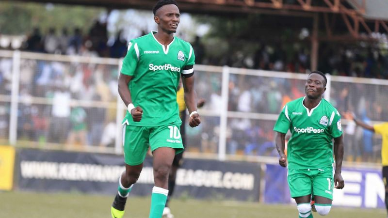 Kenneth Muguna celebrating one of his goals