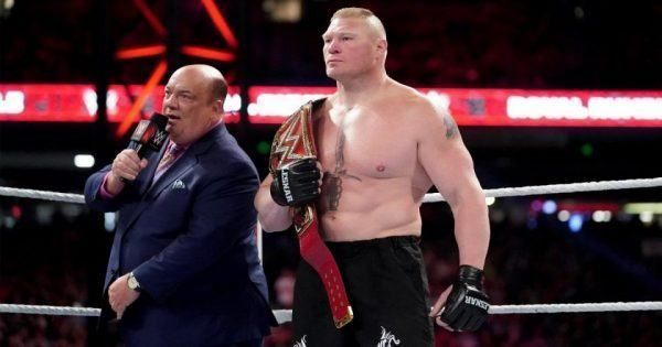 Heyman believes nobody can challenge Lesnar for his title.