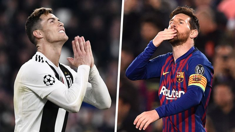 Ronaldo (left) and Messi are the two all-time Champions League top-scorers