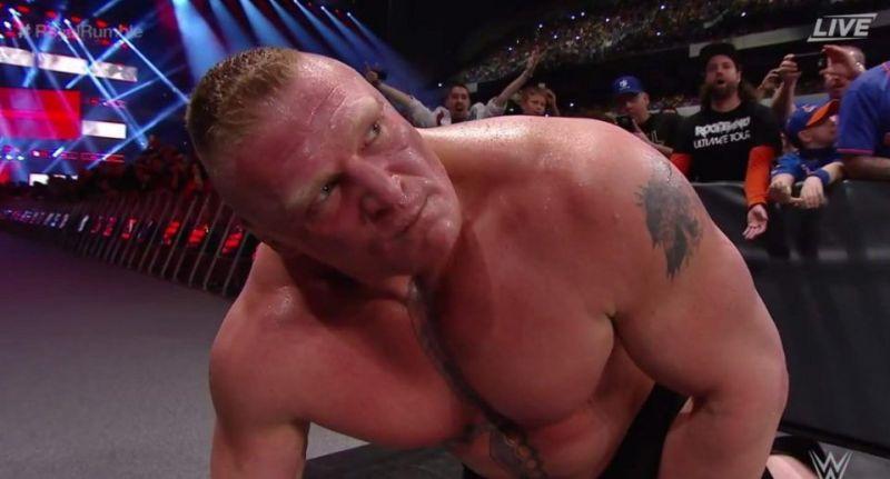 Brock Lesnar at Royal Rumble 2017