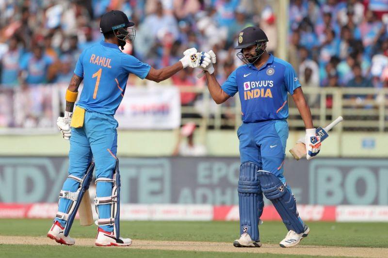 केएल राहुल के साथ रोहित शर्मा