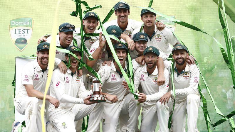 Australia celebrate their win over New Zealand