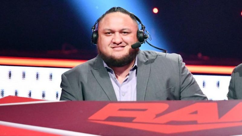 Samoa Joe worked on commentary in December 2019