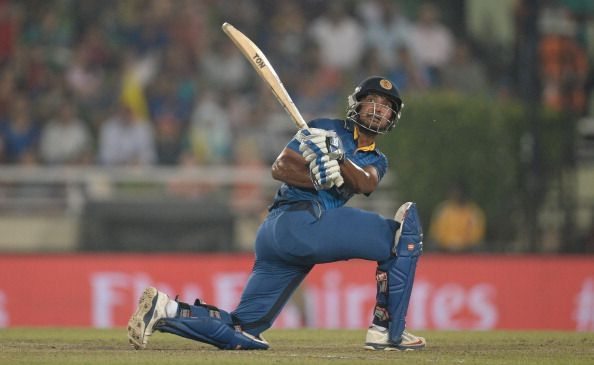 Kumar Sangakkara anchored the chae with a composed fifty