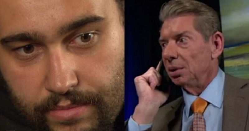Rusev and Vince McMahon.
