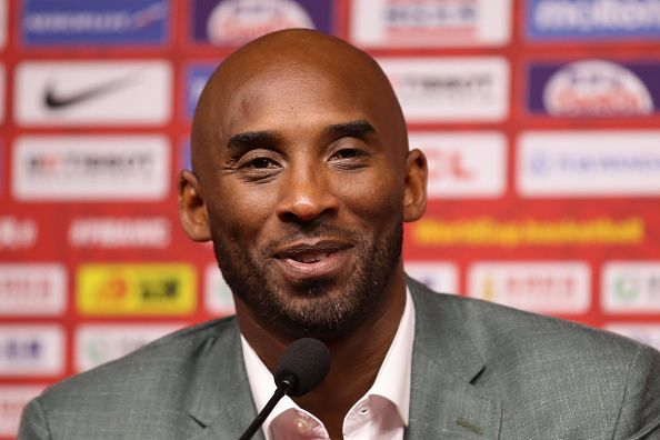 Kobe Bryant, pictured at the FIBA World Cup 2019, was tragically killed in a helicopter crash on Sunday