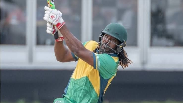 Chris Gayle in action in the GT20 Canada