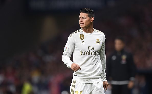James Rodriguez has continued to struggle since returning to the Bernabeu