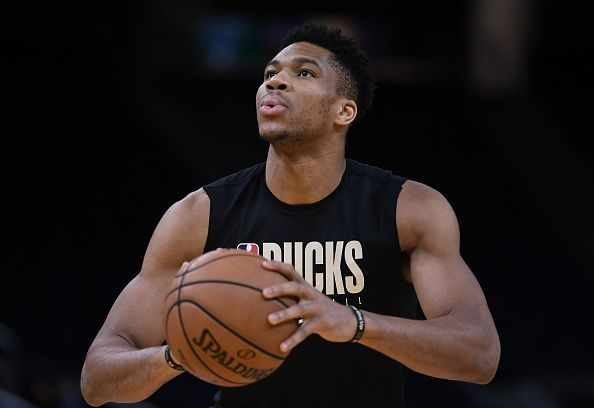 Giannis is one of five Bucks players averaging in double digits.