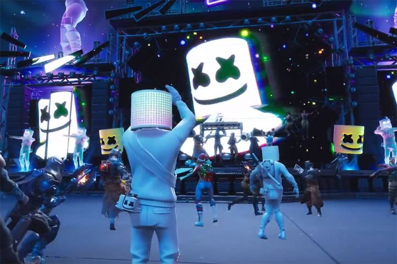 DJ Marshmellow Live Performance in-game.