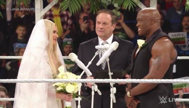 Lashley is currently part of a storyline with Lana