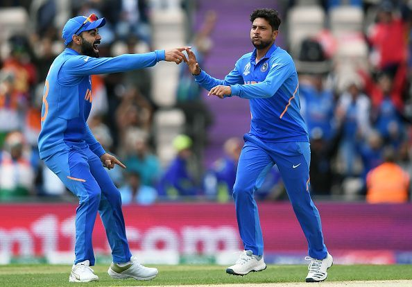 Kuldeep Yadav and Virat Kohli