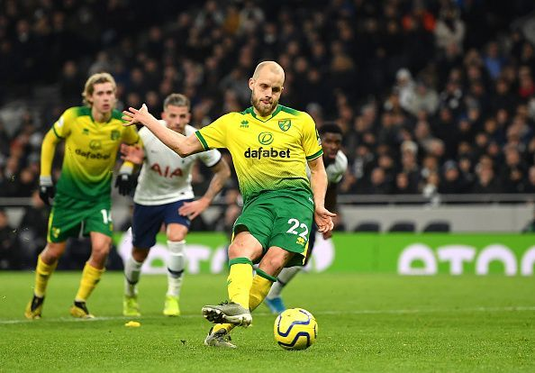 Teemu Pukki dispatched his penalty - but other than that, he was wasteful in front of goal
