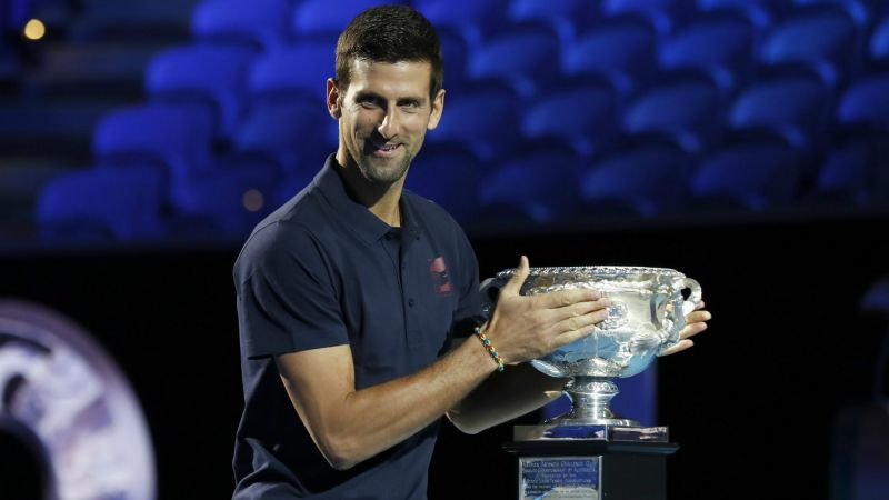 Defending Australian Open champion Novak Djokovic