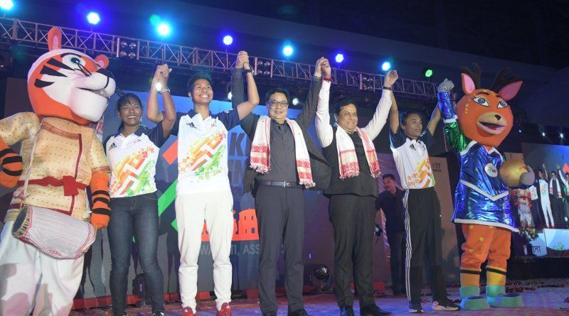 Khelo India Youth Games have begun in Guwahati, Assam