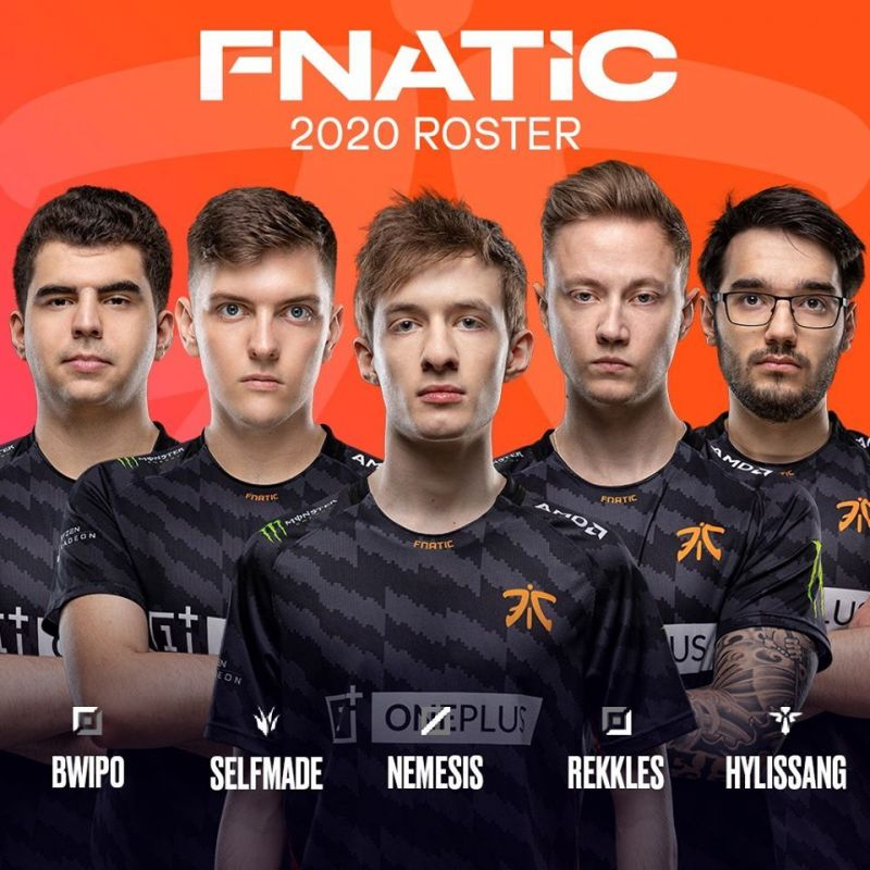 Fnatic roster 2020 (Credits: @lolesports)