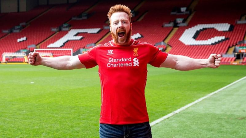 Sheamus is a huge Liverpool fan!
