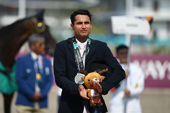 Fouaad Mirza during the awards ceremony at 2018 Asiad