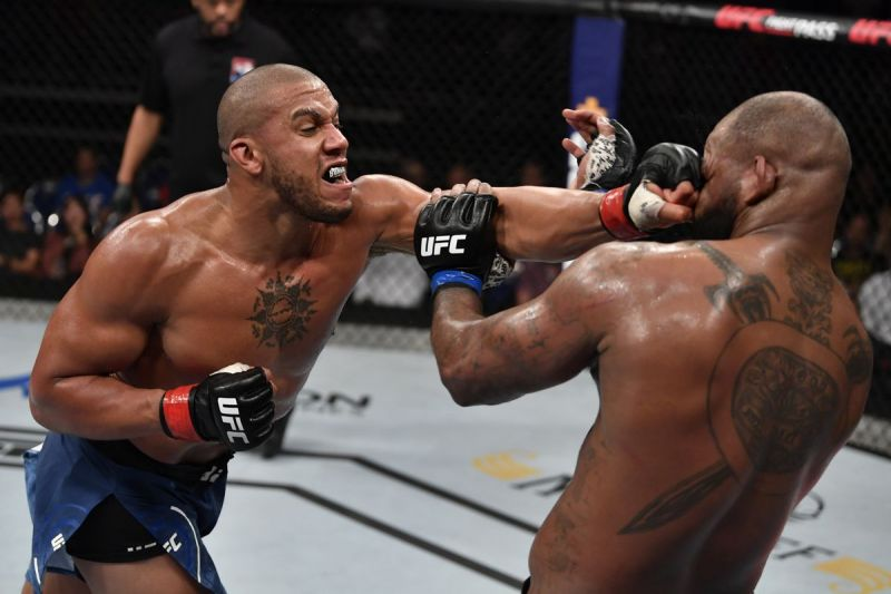 Gane went an impressive 3-0 in the UFC in 2019